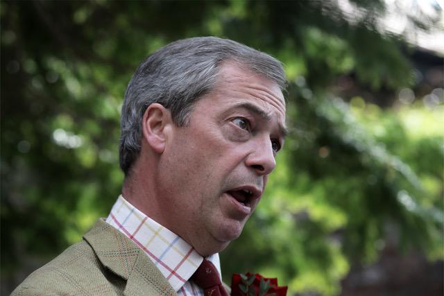 Portrett av Nigel Farage foto