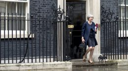 Statsminister Theresa May Number 10 foto