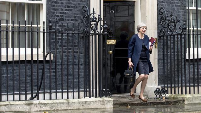 Statsminister Theresa May Number 10 foto