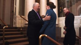 Will og Kate på Slottet i Oslo med kong Harald og dronnings Sonja foto