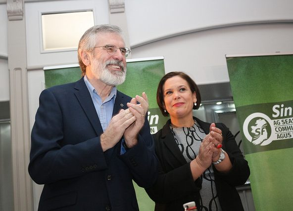 Sinn Feins Gerry Adams og Mary Lou McDonald, foto