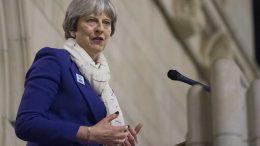 Portrett av statsminister Theresa May, foto