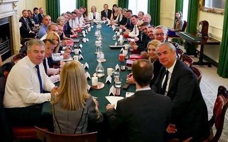 Den britiske regjeringen. Foto