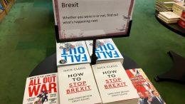 Brexit-bøker bokhandel London Foto