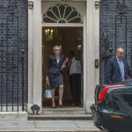 Theresa May i Downing Street. Foto