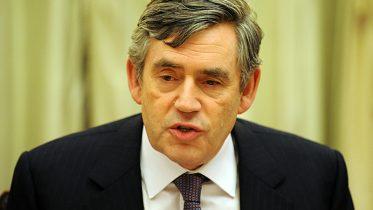 Portrett av Gordon Brown Foto