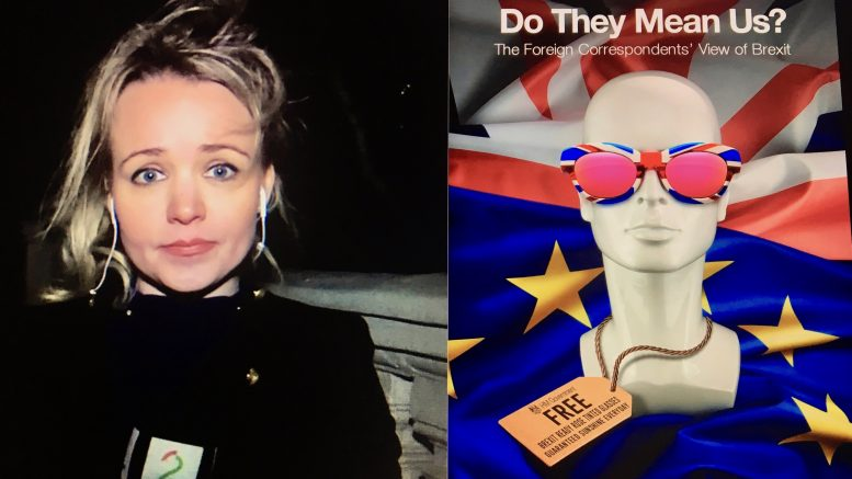 Bok om brexit og den norske reporteren Tonje Iversen. Foto