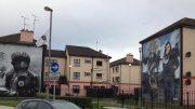 Store veggmalerier i Bogside i Londonderry. Foto