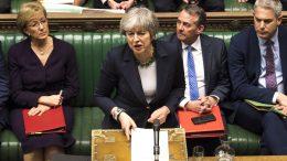 Theresa May i Underhuset. foto