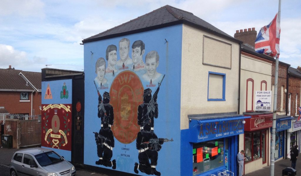 UVF-veggmaleri i Belfast. Foto