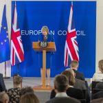 Theresa May i Brussel pressekonferanse. Foto