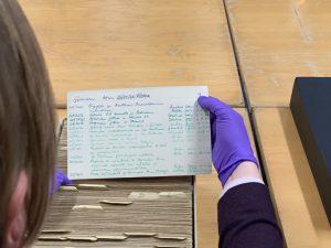 Håndskrevne tyske meldinger