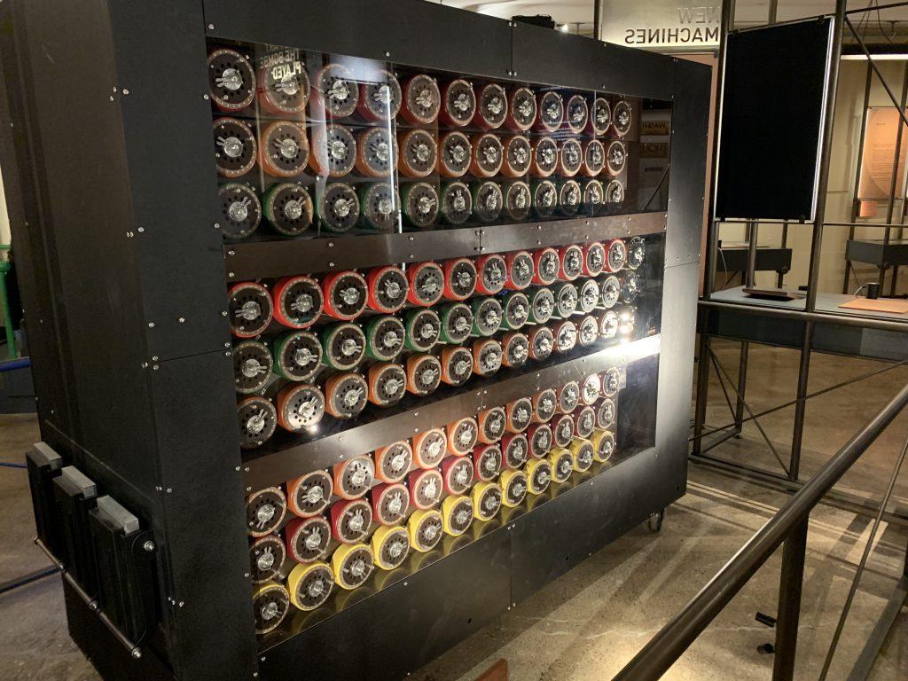 Bomb Machines på Bletchley Park. Foto