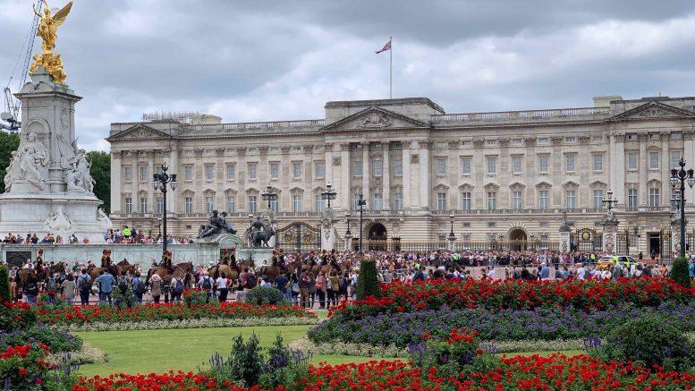 Buckingham Palace eksteriøs. Foto