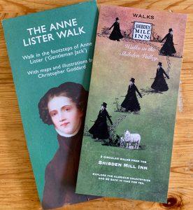 Brosjyrer med Anne Lister Walks Foto