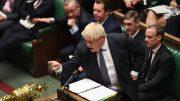 Boris Johnson i Parlamentet. Foto