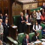Oversikt Underhuset med speaker John Bercow i midten. Foto