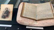 Anne Listers dagbok i monter på biblioteket i Halifax. Foto