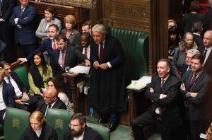 Foto av John Bercow i Underhuset.