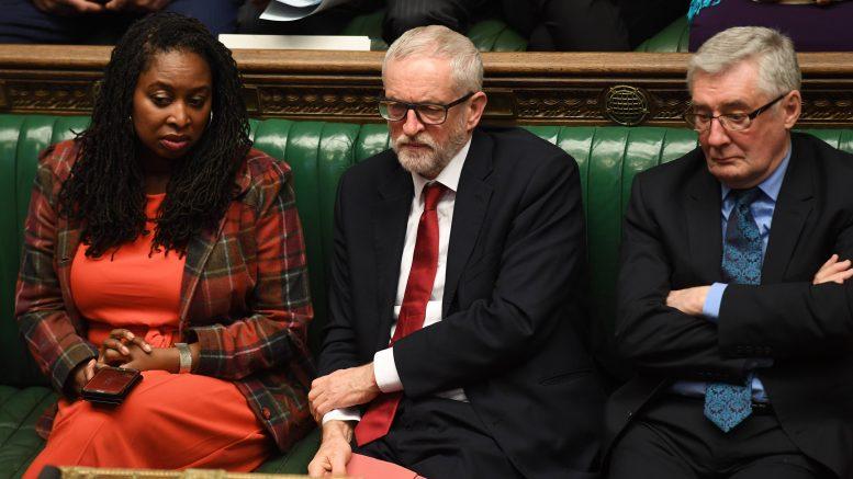 Labour-leder Jeremy Corbyn i Underhuset. Foto