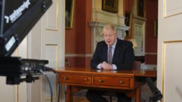Boris Johnson holder TV-tale- foto