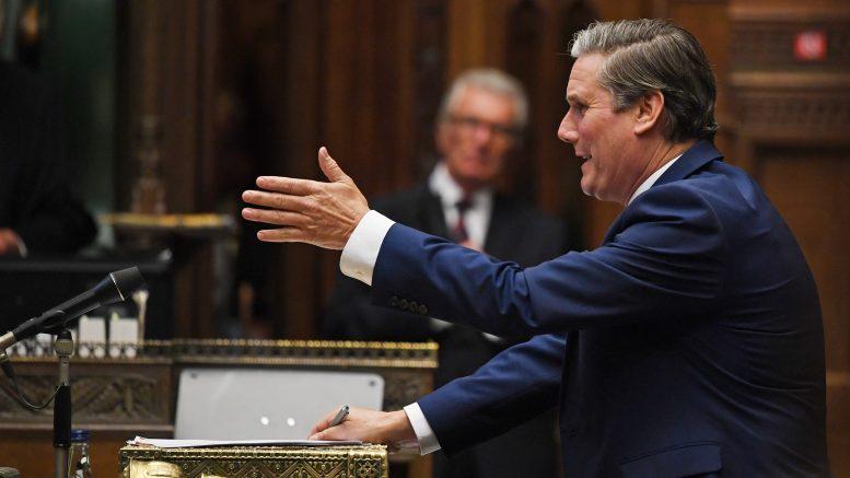 Keir Starmer i spørretimen i Underhuset.