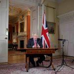 Boris Johnson holder TV-tale.