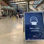 Munnbindskilt fra Waterloo station