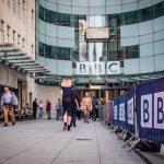 Eksteriørbilde av BBCs lokaler. Foto
