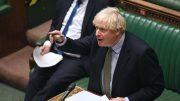 Boris Johnson i aksjon i Underhuset. Foto