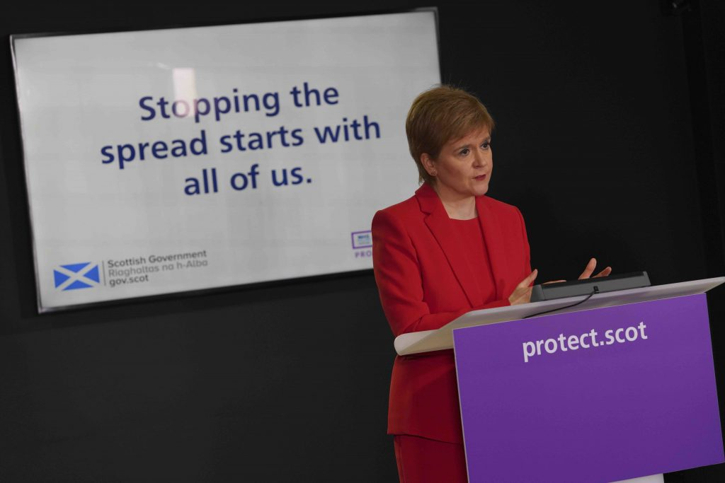 Skottlands førsteminster Nicola Sturgeon. Foto