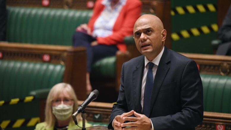 Sajid Javid i aksjon i Underhuset. Foto