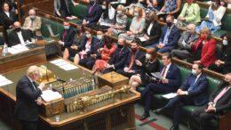 Boris Johnson i spørretimen i Underhuset