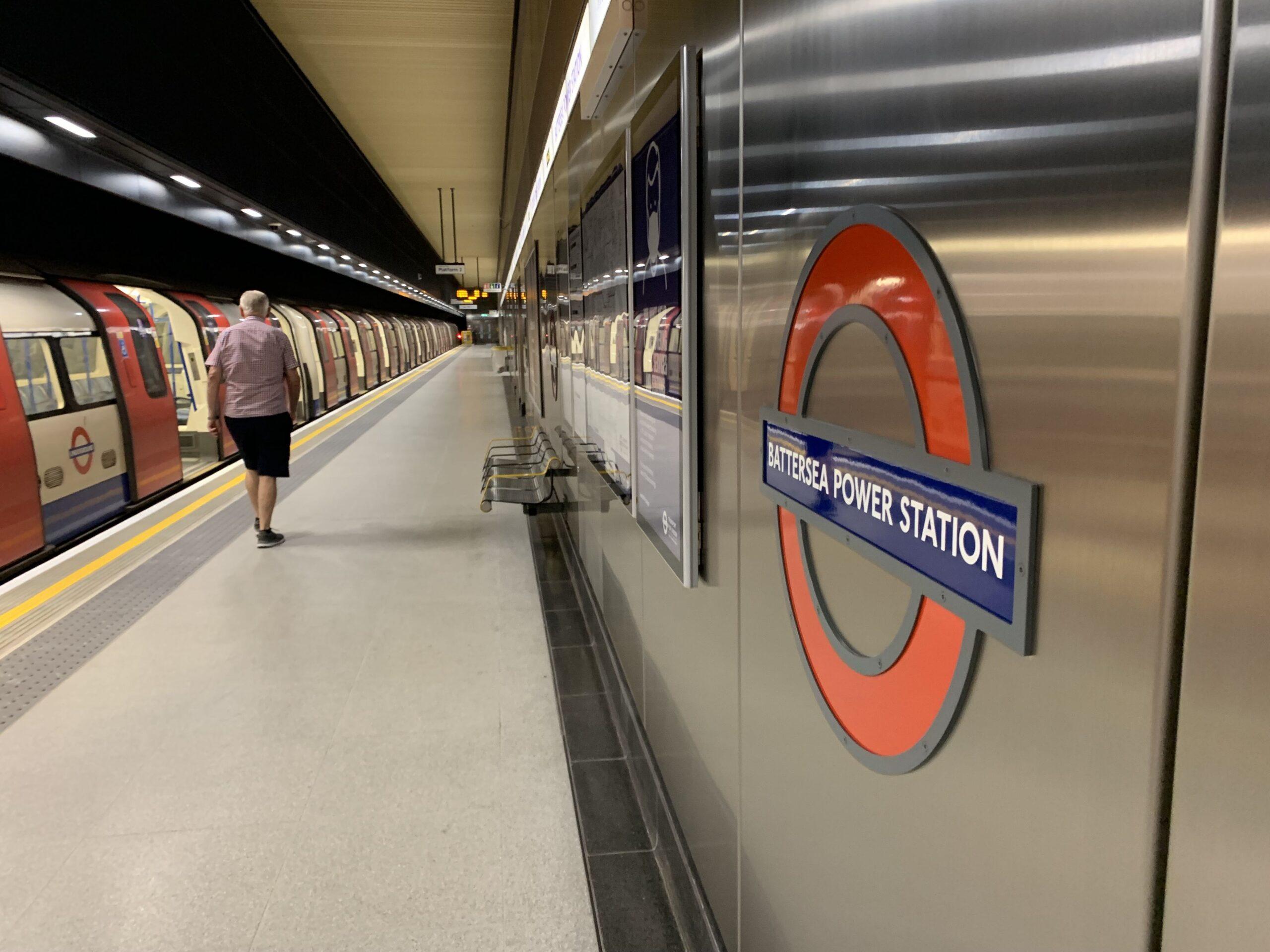 Plattformen på Battersea Power Station